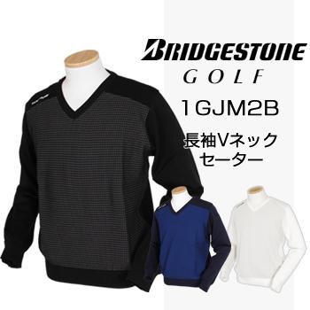 BridgestoneGolfブリヂストンゴルフウエア 長袖Vネックセーター 2018春夏モデル 1GJM2B ビッグサイズ(3L) 【あす楽対応】