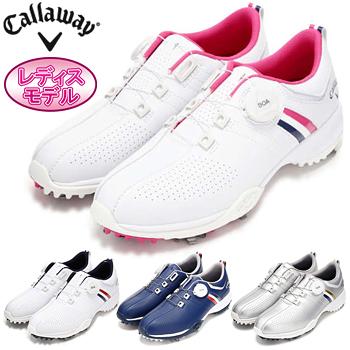Callaway(キャロウェイ)日本正規品 AEROSPORT BOA WM 18 (エアロスポーツボアウィメンズボア18) ソフトスパイクゴルフシューズ 2018モデル 「247-8983802」 レディスモデル【あす楽対応】