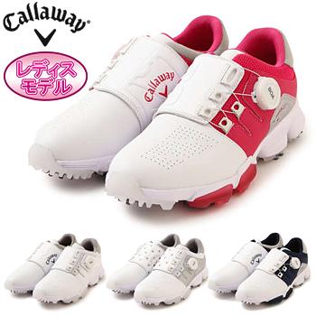 Callaway(キャロウェイ)日本正規品 HYPERCHEV BOA WM 18 (ハイパーシェブボアウィメンズ18) ソフトスパイクゴルフシューズ 2018新製品 「247-8983801」 レディスモデル【あす楽対応】