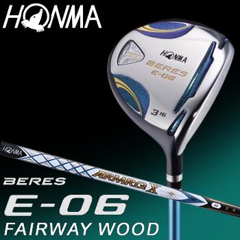 HONMA GOLF(本間ゴルフ) 日本正規品 BERES(ベレス) E-06 2Sグレード フェアウェイウッド 2018モデル ARMRQ X 43カーボンシャフト