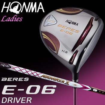 【【最大3000円OFFクーポン】】HONMA GOLF(本間ゴルフ) 日本正規品 BERES(ベレス) E-06 2Sグレード ドライバー 2018モデル ARMRQ X 38カーボンシャフト レディスモデル