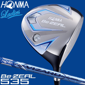HONMA GOLF(本間ゴルフ) 日本正規品 Be ZEAL535(ビジール535) ドライバー 2018新製品 VIZARD for Be ZEAL Ladies カーボンシャフト レディスモデル