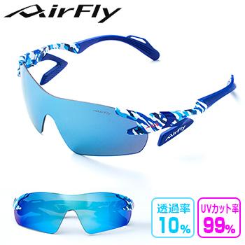 ZYGOSPEC (ジゴスペック) AirFly (エアフライ) ノーズパッドレス サングラス BLUE CAMOFLAGE 「AF-301 C-4」