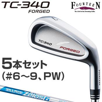 【【最大3000円OFFクーポン】】FOURTEEN(フォーティーン)日本正規品 TC-340 FORGEDアイアン NSPRO Zelos6スチールシャフト 2018モデル 5本セット(#6~9、P)