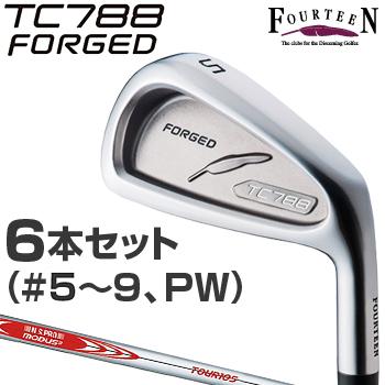 【【最大3000円OFFクーポン】】FOURTEEN(フォーティーン)日本正規品 TC-788 FORGEDアイアン NSPRO MODUS3 TOUR105スチールシャフト 2018モデル 6本セット(#5~9、P)