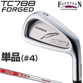 FOURTEEN(フォーティーン)日本正規品 TC-788 FORGEDアイアン NSPRO MODUS3 TOUR105スチールシャフト 2018新製品 単品(#4)