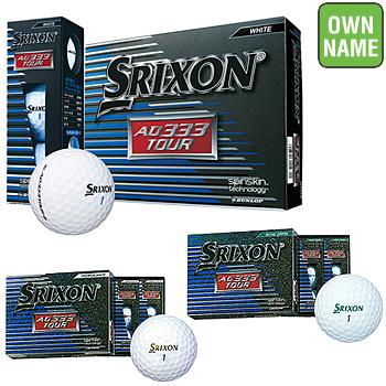【オリジナルオンネーム3色使用】 ダンロップ日本正規品 SRIXON(スリクソン) AD333 TOUR 2018モデル ゴルフボール 3ダース(36個入) 「SNAD333T」