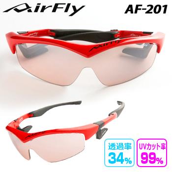 【【最大3300円OFFクーポン】】ZYGOSPEC (ジゴスペック) AirFly (エアフライ) ノーズパッドレス サングラス BRIGHT RED 「AF-201 C-4」