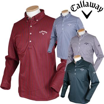 Callaway GOLF キャロウェイゴルフ 2018秋冬モデル ショートボタンダウンカラーシャツ 241-8256505 ビッグサイズ(3L) 【あす楽対応】