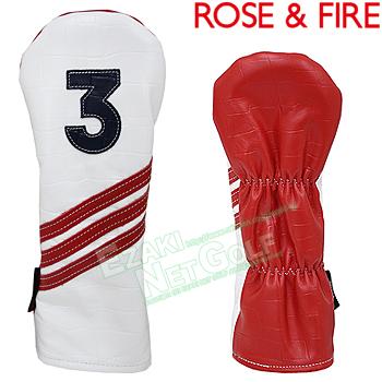 ROSE & FIRE ローズアンドファイア日本正規品 ホワイトレッド クロコ フェアウェイウッド用ヘッドカバー(3番) 2018モデル 「RFF013」【あす楽対応】