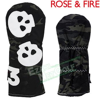 ROSE & FIRE ローズアンドファイア日本正規品 ダンシングスカル フェアウェイウッド用ヘッドカバー(3番) 2018モデル 「RFF012」【あす楽対応】
