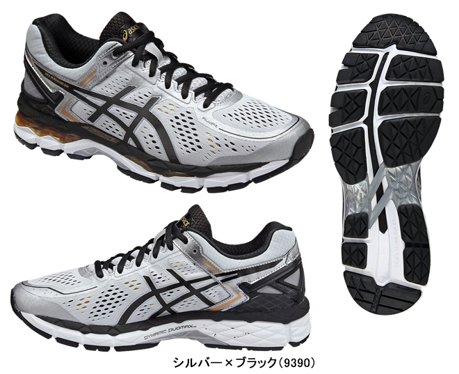 ASICS (Asics) gel Kayano 22 supermarket wide (GEL KAYANO 22 SW) TJG938 silver X black (9390)
