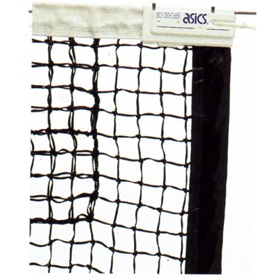 アシックス 国際式全天候硬式テニスネット ブラック 118000-90