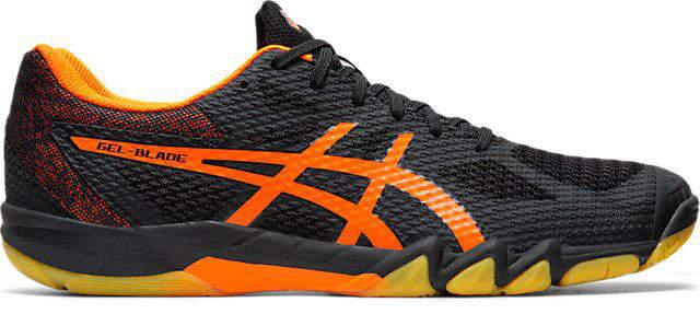 アシックス GEL-BLADE 7 ブラック/ショッキングオレンジ 1071a029-001