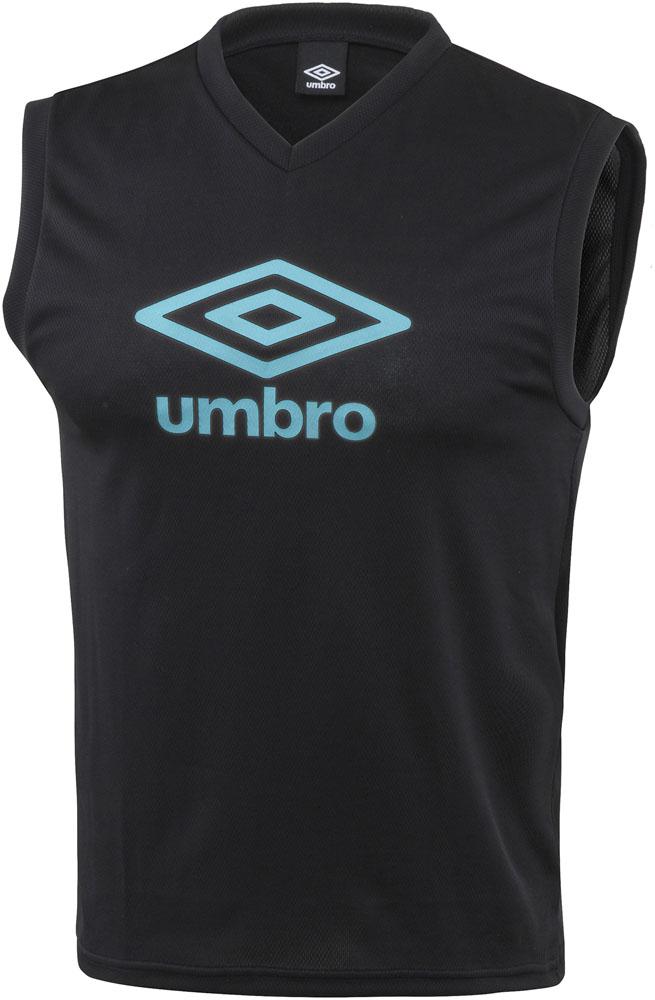UMBRO アンブロ 格安激安 TRジュニア用ノースリーブプラシャツ V首 ブラック メーカー在庫限り品