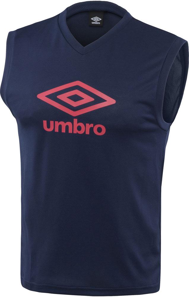UMBRO アンブロ TRジュニア用ノースリーブプラシャツ 評判 ネイビー V首 未使用品