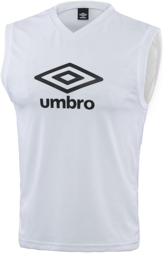 UMBRO アンブロ TRジュニア用ノースリーブプラシャツ V首 40%OFFの激安セール ホワイト 日本限定