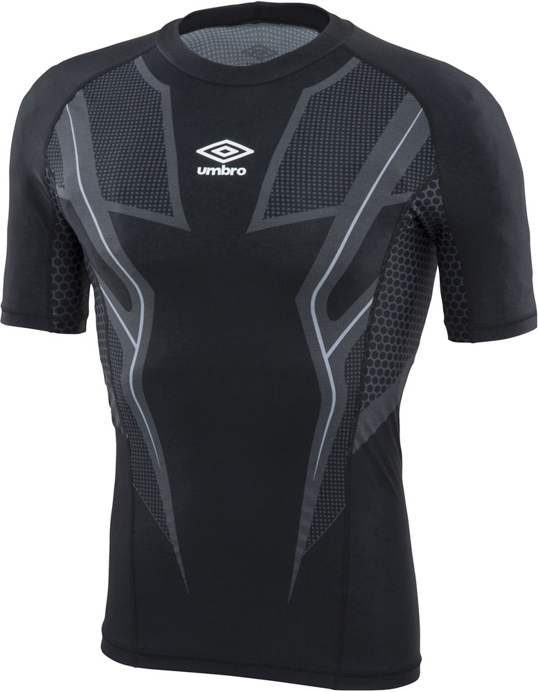 UMBRO(アンブロ) TR ハーフスリーブインナーシャツ byG ブラック
