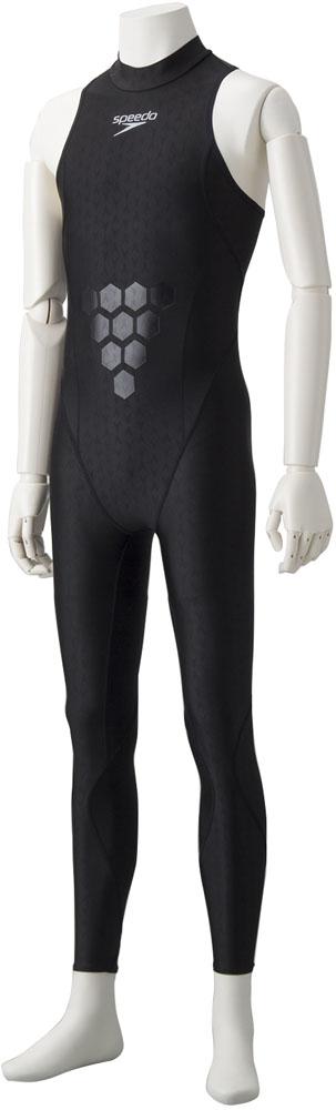 Speedo(スピード) メンズ 練習用 Lap Swimメンズスパッツスーツ ブラック