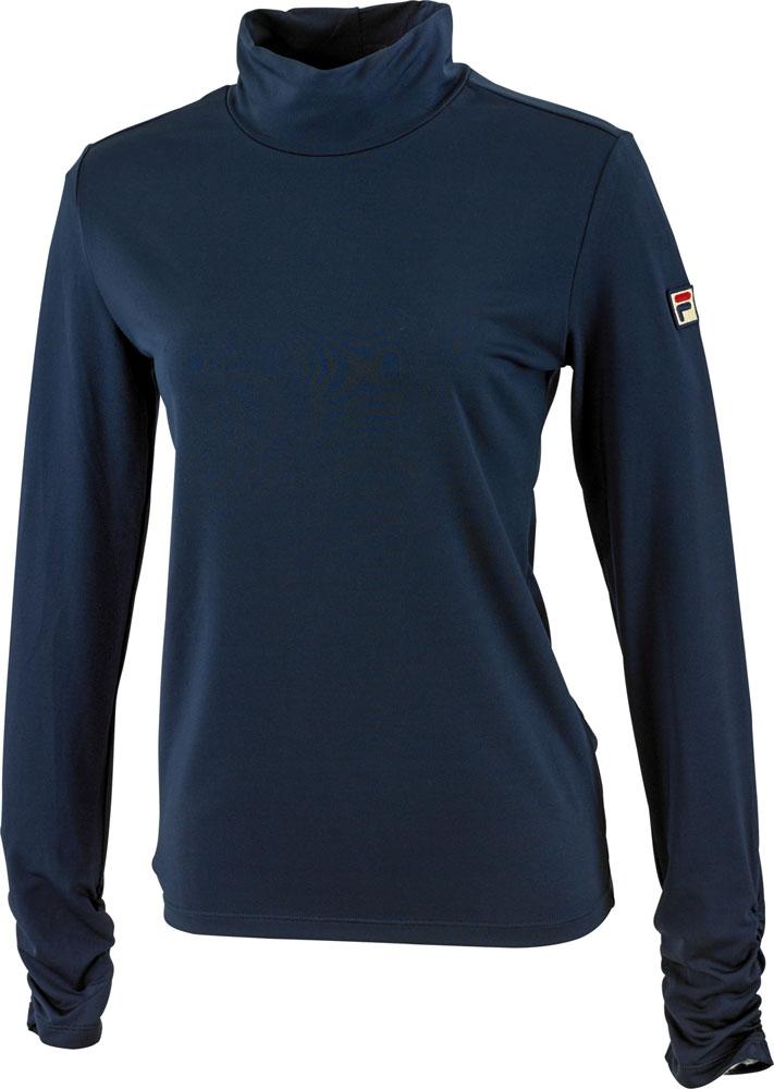 FILA 無料サンプルOK フィラ 未使用 ロングスリーブシャツ フィラネイビー レディース テニスウェア