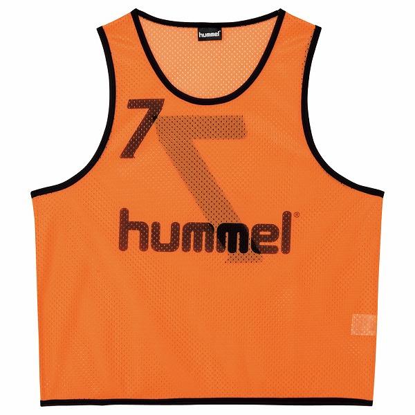 ヒュンメル ジュニアトレーニングビブス オレンジ ssk-hjk6006z-35