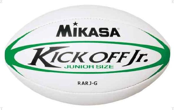 ミカサ MIKASA ラグビー ホワイト×グリーン 送料無料激安祭 低廉 ジュニアラグビーボール3号