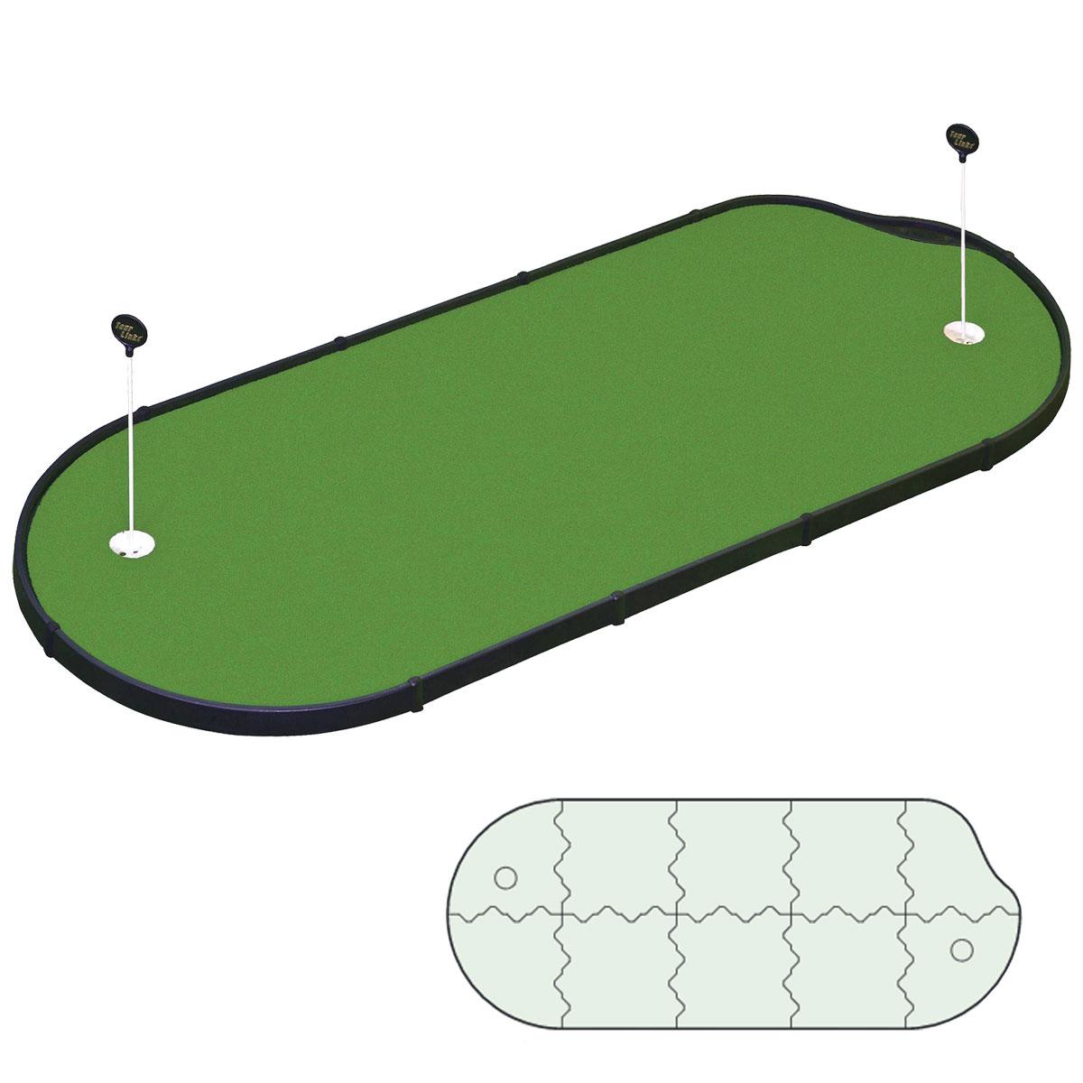【【最大3300円OFFクーポン】】TourLinks(ツアーリンクス)日本正規品 4×10PAR SAVER PUTTING GREEN(パーソナルパッティンググリーンパーセーバー) 全天候型パッティング練習組み立て式マット 「PG-10-PM-1(Z-127)」