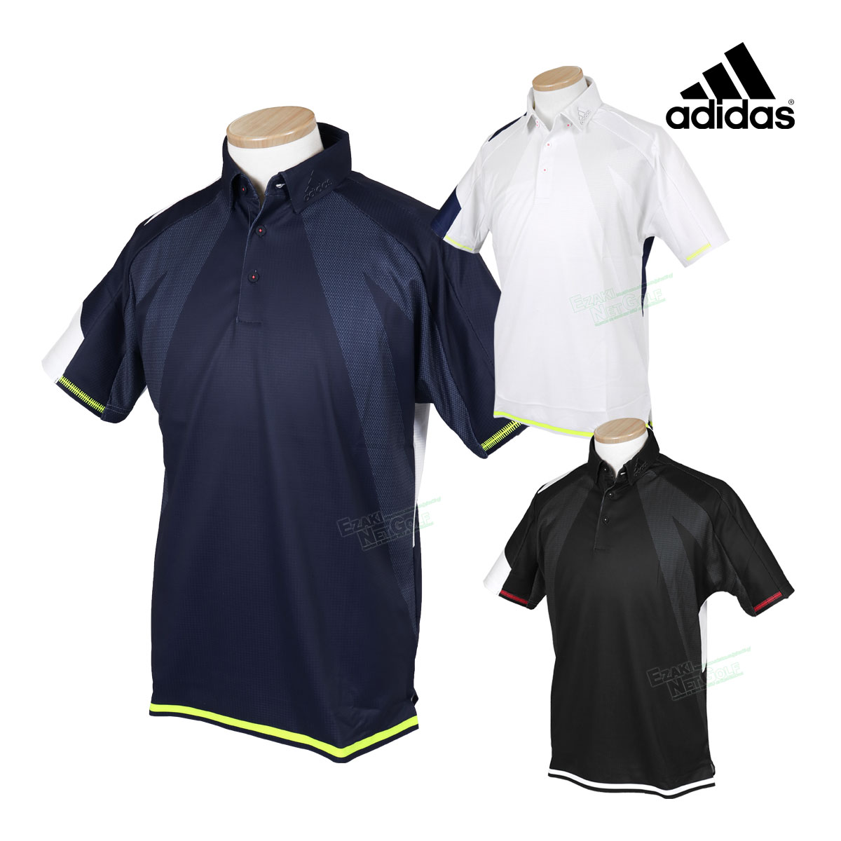 adidas Golf アディダスゴルフ 2020春夏モデルウエア シングルパネル 半袖ボタンダウンシャツ GKI11 【あす楽対応】
