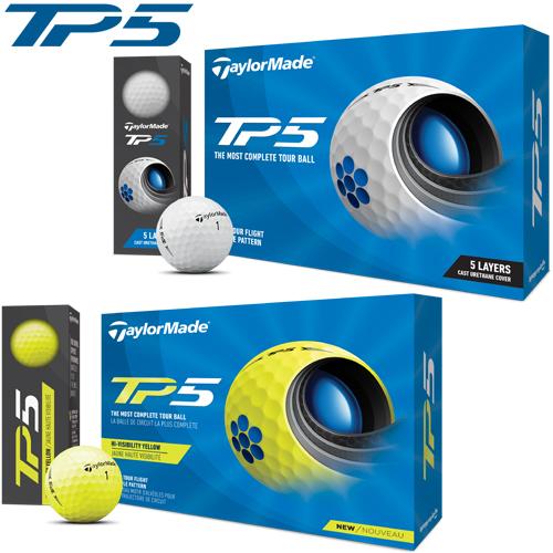 すべてのクラブで性能を発揮するテーラーメイド独自の5層構造新設計の「ツアーフライトディンプル」を搭載!即日出荷 2021年モデル日本正規品テーラーメイドTP5 ゴルフボール1ダース12個入り「TaylorMade TP5」【あす楽対応】