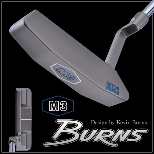 【日本仕様】バーンズゴルフM3 グースネックパタースモークオーロラブラック仕上げ400本限定生産BURNS GOLF MADE IN USA「Design by Kevin Burns M3」【あす楽対応】