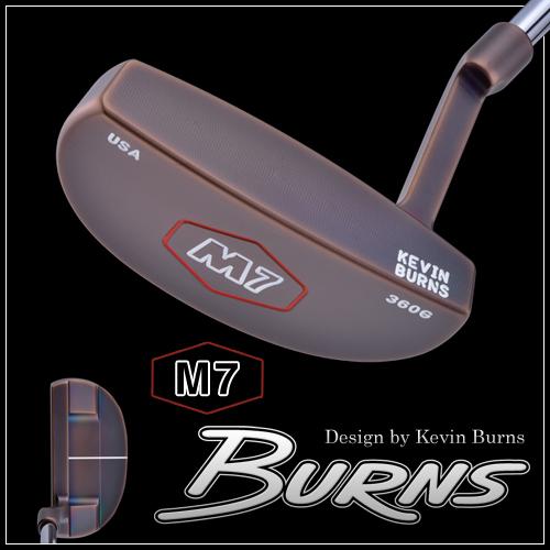 日本仕様バーンズゴルフM7 スラントネックパタースモークオーロラブロンズ仕上げ100本限定生産BURNS GOLF MADE IN USA「Design by Kevin Burns M7」【あす楽対応】
