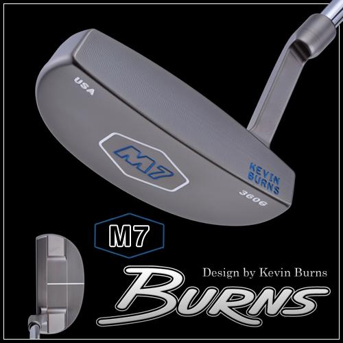 【日本仕様】バーンズゴルフM7 スラントネックパタースモークオーロラブラック仕上げ200本限定生産BURNS GOLF MADE IN USA「Design by Kevin Burns M7」【あす楽対応】
