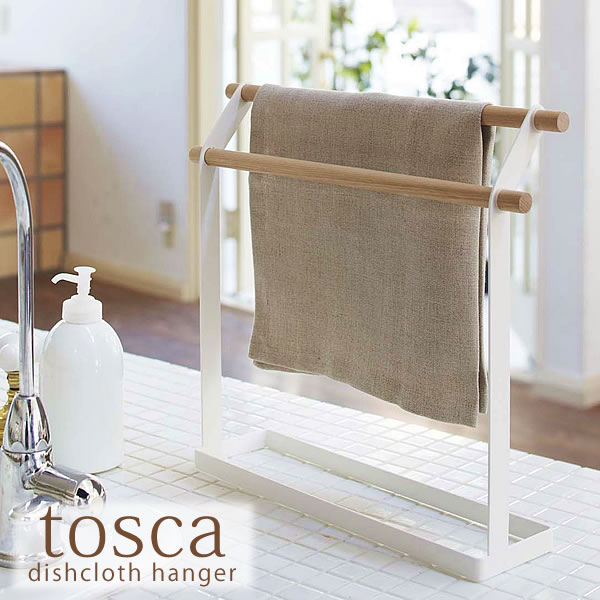Towel rack ☆ ☆ dishcloth Tosca cloth hanger / cross-rail / cloth stand /  cross stand / dish cloth hangers / kitchen supplies / wood / steel /  kitchen ...