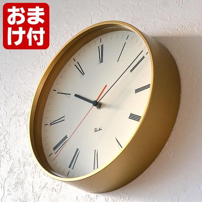 レムノス リキ ローマンクロック 掛け時計 WR17-12 Lemnos RIKI ROMAN CLOCK モダン シンプル オシャレ 壁掛け時計 おしゃれ 日本製 スイープセコンド 静か 渡辺力 デザイン プレゼント ギフト