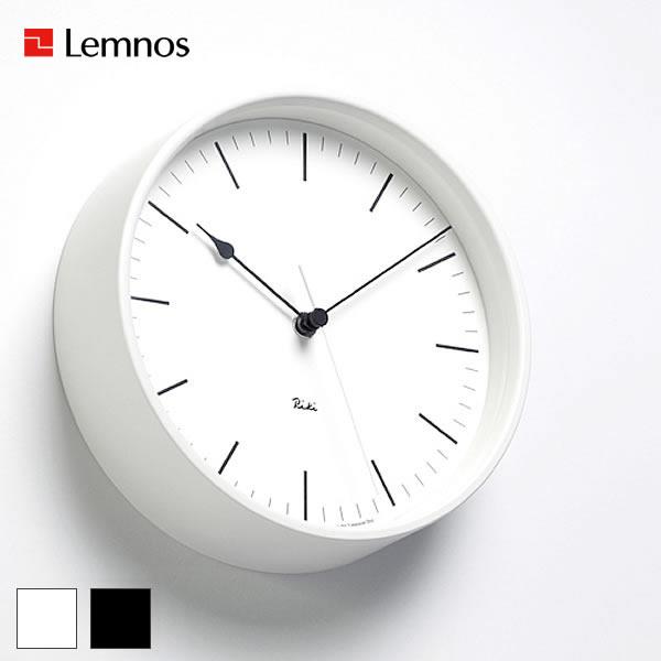 電波時計 【Lemnos レムノス】RIKI STEEL CLOCK リキスチールクロック WR08-24 WR08-25 掛け時計 電波時計 電波 渡辺力 壁掛け 時計 おしゃれ ブラック 人気 インテリア 北欧 249092