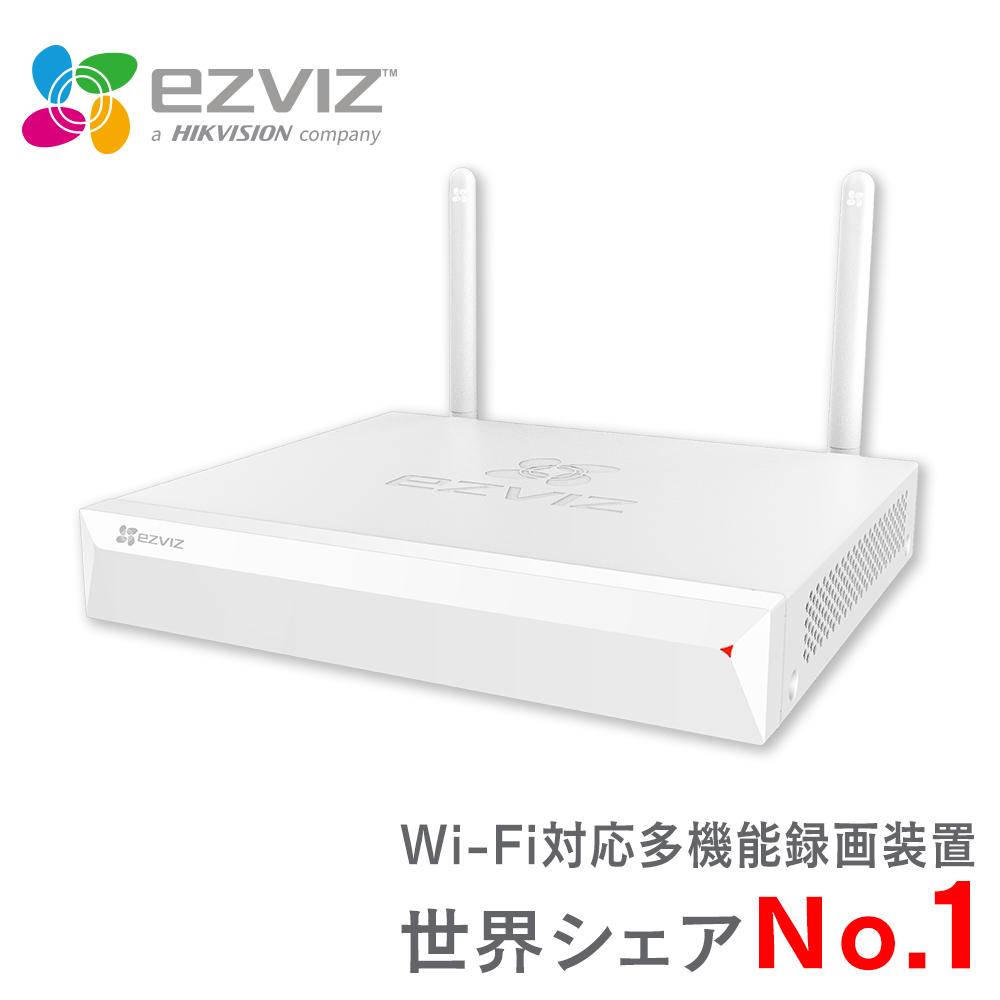 防犯カメラ EZVIZ HIKVISION 録画装置 ワイヤレス 屋内 監視カメラ 1080P ハードディスク HDD録画 NVR 無線録画機 Wi-Fi 明暗 遠隔監視 スマホ 送料無料