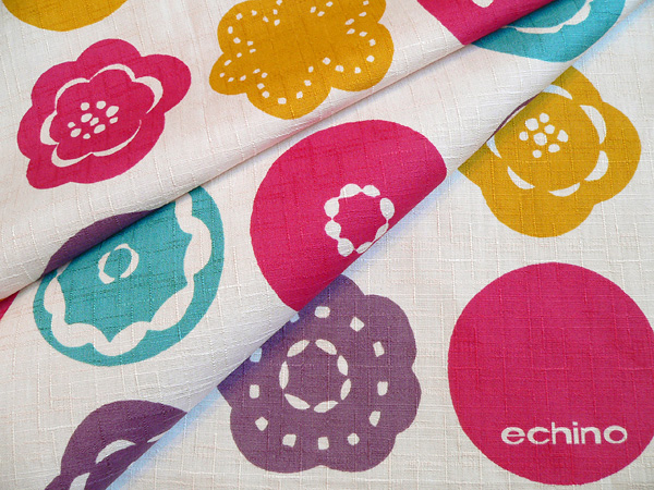 Furoshiki wrapping cloth echino ( エチノ ) 綿中 sunny place (hidamari) pink (75 cm) made in Japan 10P04Aug13