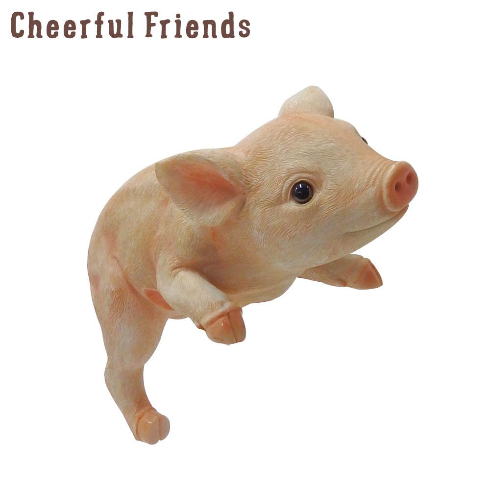 返品不可 今にも動き出しそうな動物のマスコット 人気ショップが最安値挑戦 インテリア小物 チアフルフレンズ こぶたのビフ 豚 置物 動物 あす楽対応 小物 可愛い リアル かわいい 装飾