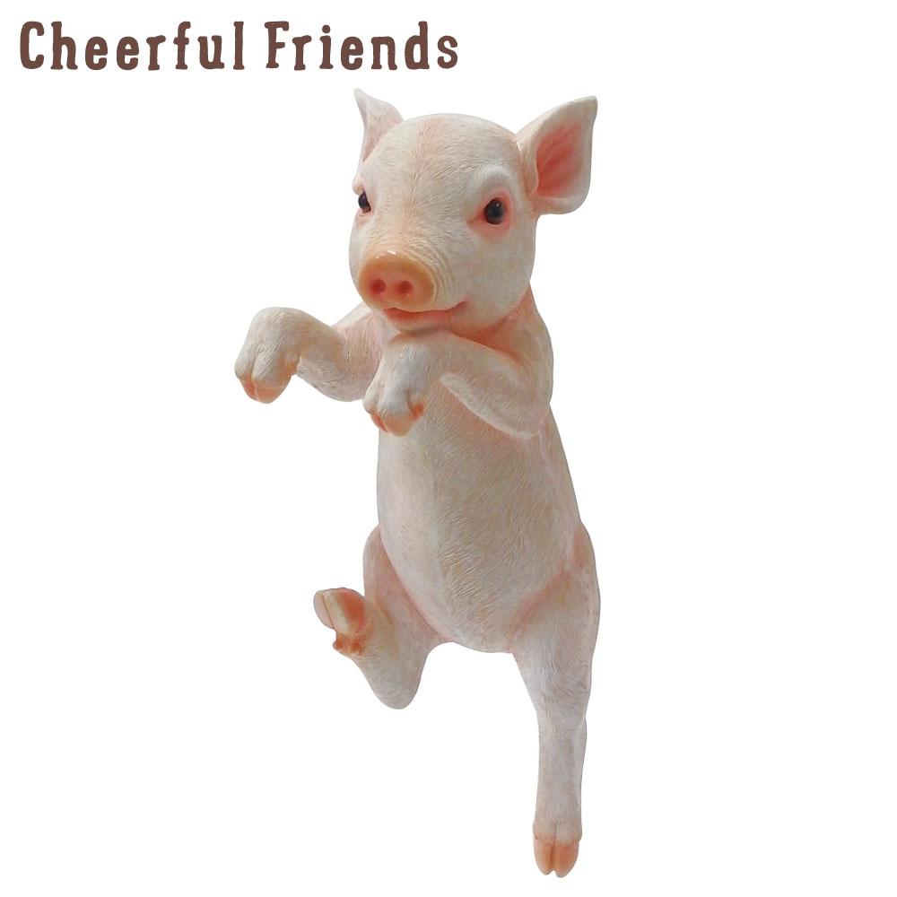 今にも動き出しそうな動物のマスコット 『4年保証』 インテリア小物 チアフルフレンズ こぶたのルーク 豚 置物 動物 可愛い リアル あす楽対応 装飾 小物 正規品送料無料 かわいい