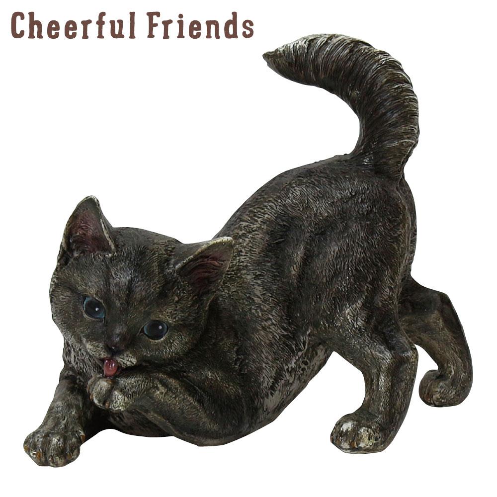 今にも動き出しそうな動物のマスコット インテリア小物 チアフルフレンズ 子猫のメイ ねこ ネコ 置物 かわいい 大放出セール リアル 小物 あす楽対応 数量限定アウトレット最安価格 可愛い 動物 装飾