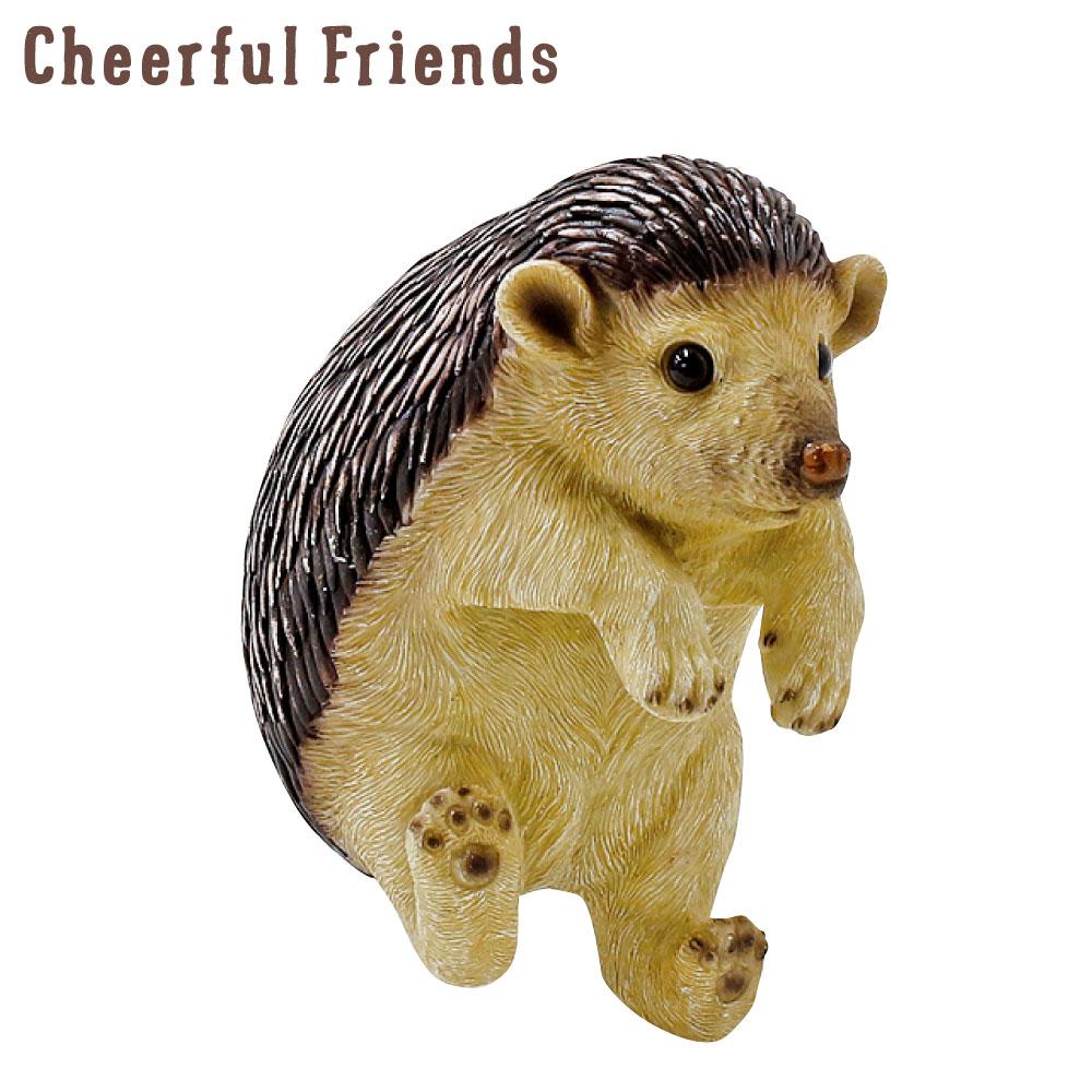 今にも動き出しそうな動物のマスコット インテリア小物 チアフルフレンズ ハリネズミのジョー はりねずみ 置物 動物 小物 装飾 入手困難 あす楽対応 かわいい 可愛い 10%OFF リアル