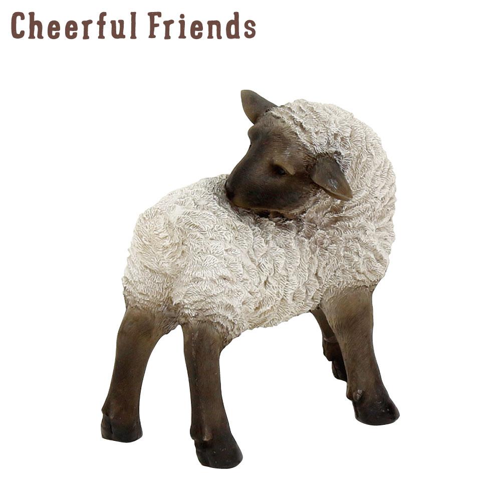 今にも動き出しそうな動物のマスコット インテリア小物 チアフルフレンズ 黒ひつじのマヤ 羊 置物 動物 可愛い あす楽対応 かわいい 装飾 新商品!新型 小物 リアル 返品送料無料