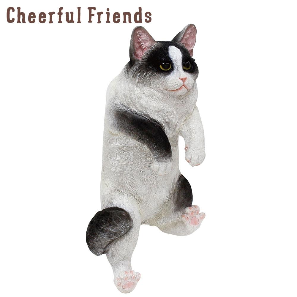 今にも動き出しそうな動物のマスコット インテリア小物 チアフルフレンズ 猫のローラ ねこ ネコ 置物 小物 あす楽対応 信頼 装飾 リアル 動物 可愛い かわいい 販売