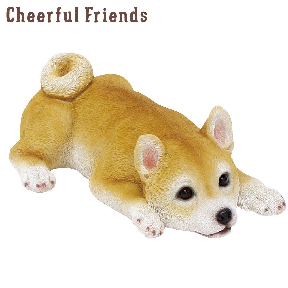 今にも動き出しそうな動物のマスコット インテリア小物 チアフルフレンズ 新作 豆柴のモモ 豆しば まめしば 送料無料カード決済可能 犬 イヌ 動物 置物 あす楽対応 リアル 可愛い かわいい 小物 装飾