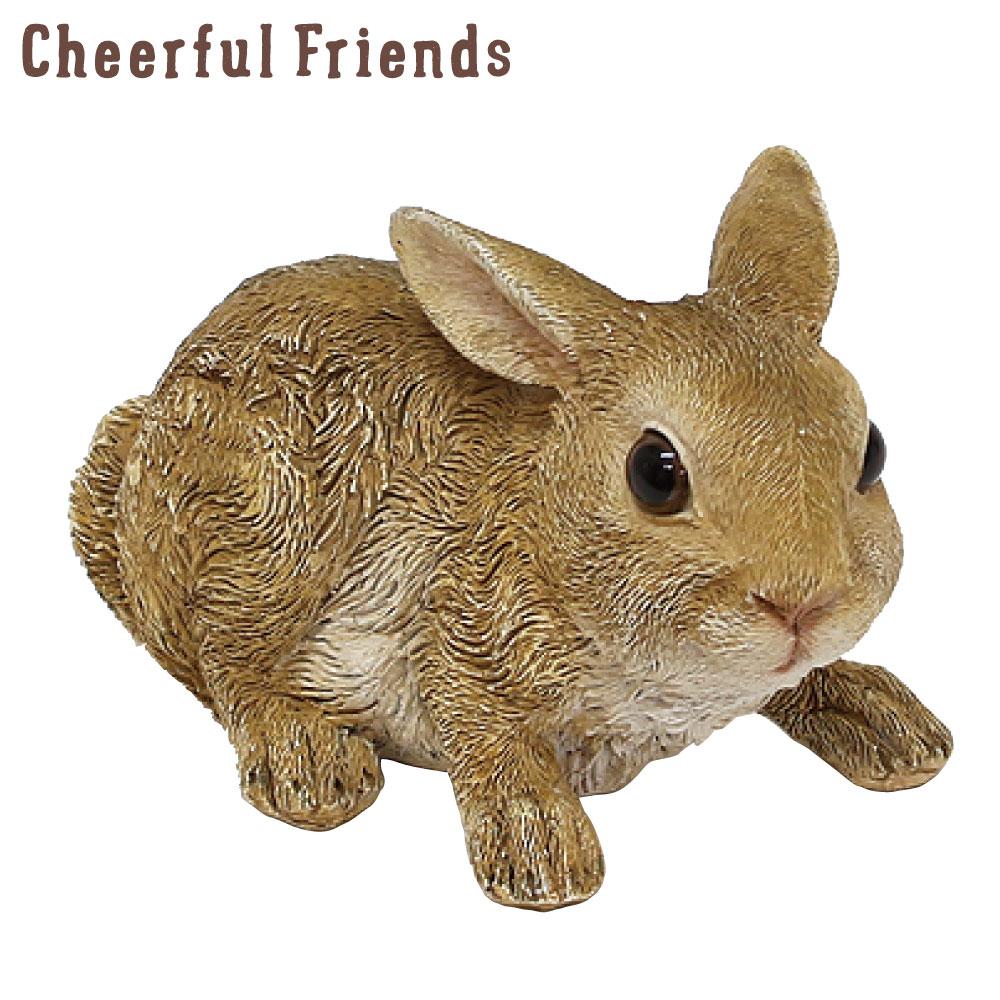 今ダケ送料無料 今にも動き出しそうな動物のマスコット インテリア小物 チアフルフレンズ うさぎのアンジー 超特価SALE開催 ウサギ 置物 動物 可愛い かわいい リアル あす楽対応 小物 装飾