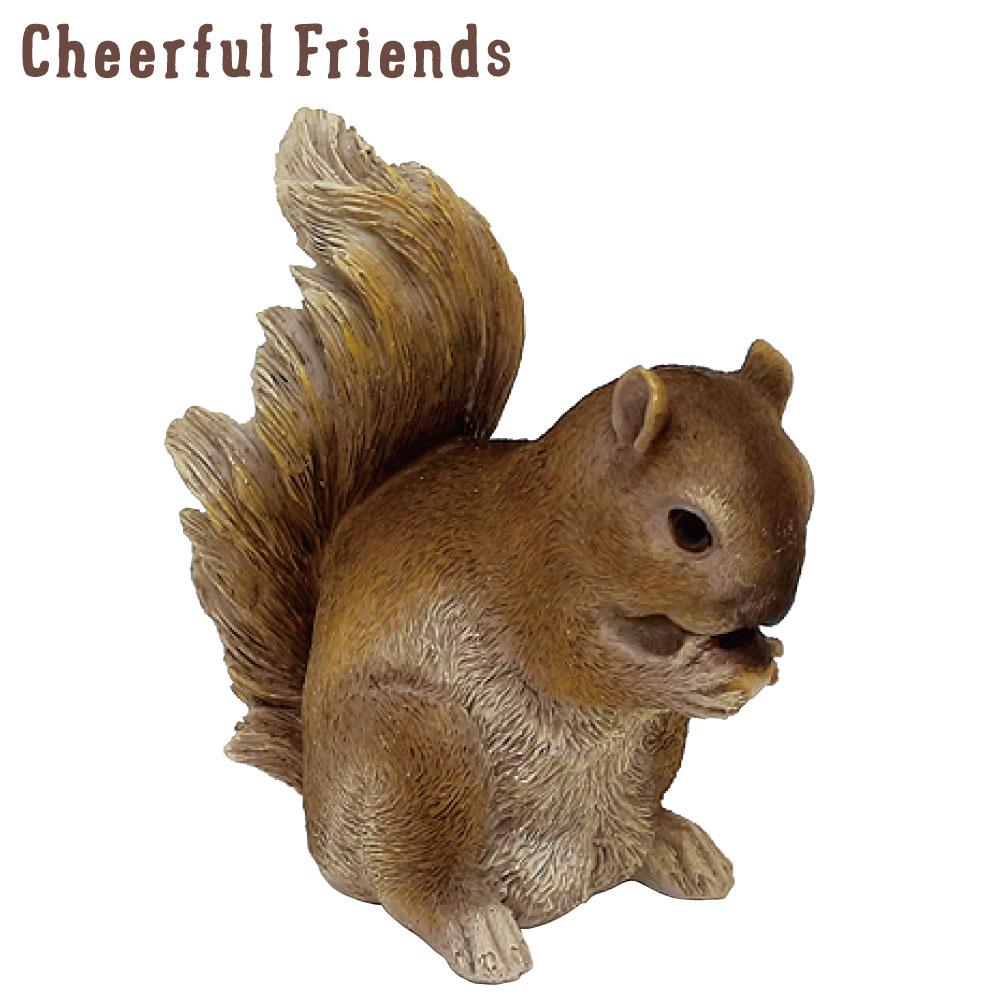 今にも動き出しそうな動物のマスコット インテリア小物 チアフルフレンズ リスのエヴァ りす 置物 超特価SALE開催 動物 小物 あす楽対応 リアル かわいい 装飾 卓出 可愛い