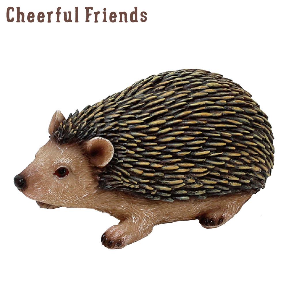 今にも動き出しそうな動物のマスコット インテリア小物 チアフルフレンズ ハリネズミのアーリー はりねずみ 置物 動物 小物 割引 情熱セール あす楽対応 かわいい 装飾 可愛い リアル
