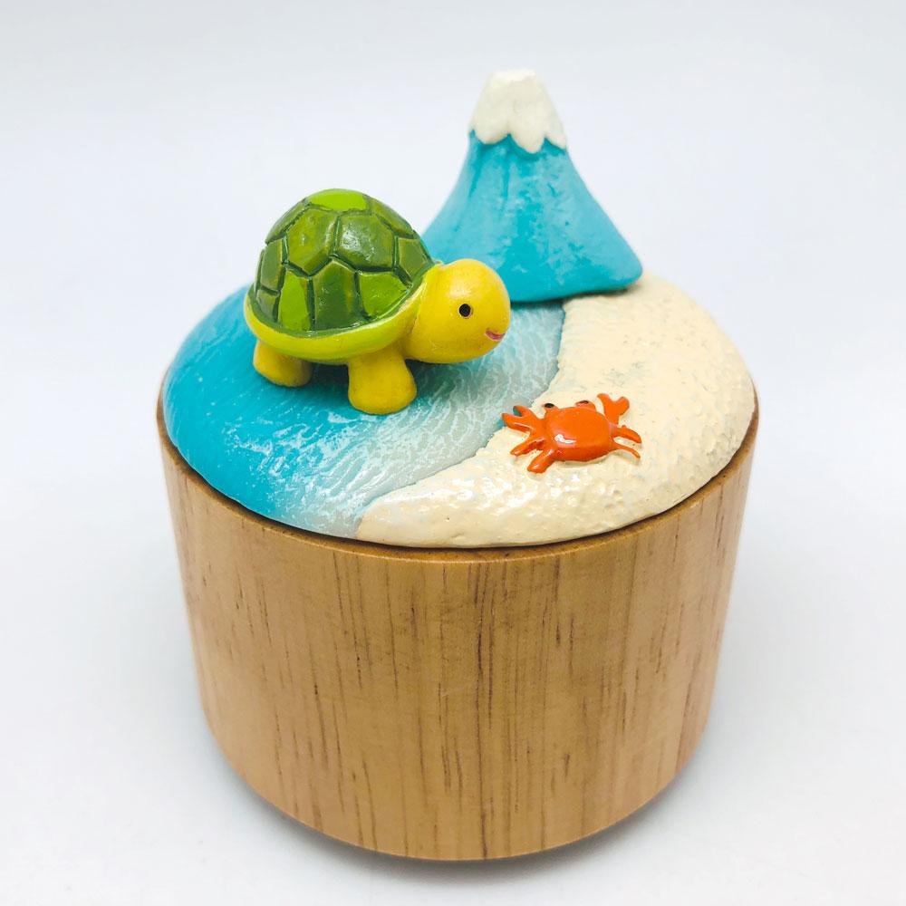 自宅ですぐに作れるオルゴール作成キット ワークショップ 送料無料新品 おうちでオルゴールキット 驚きの値段で ふじの山 あす楽対応 カメ富士山 お子さんの学校のお休み期間を有効に使える想像力や感性を育てるセット