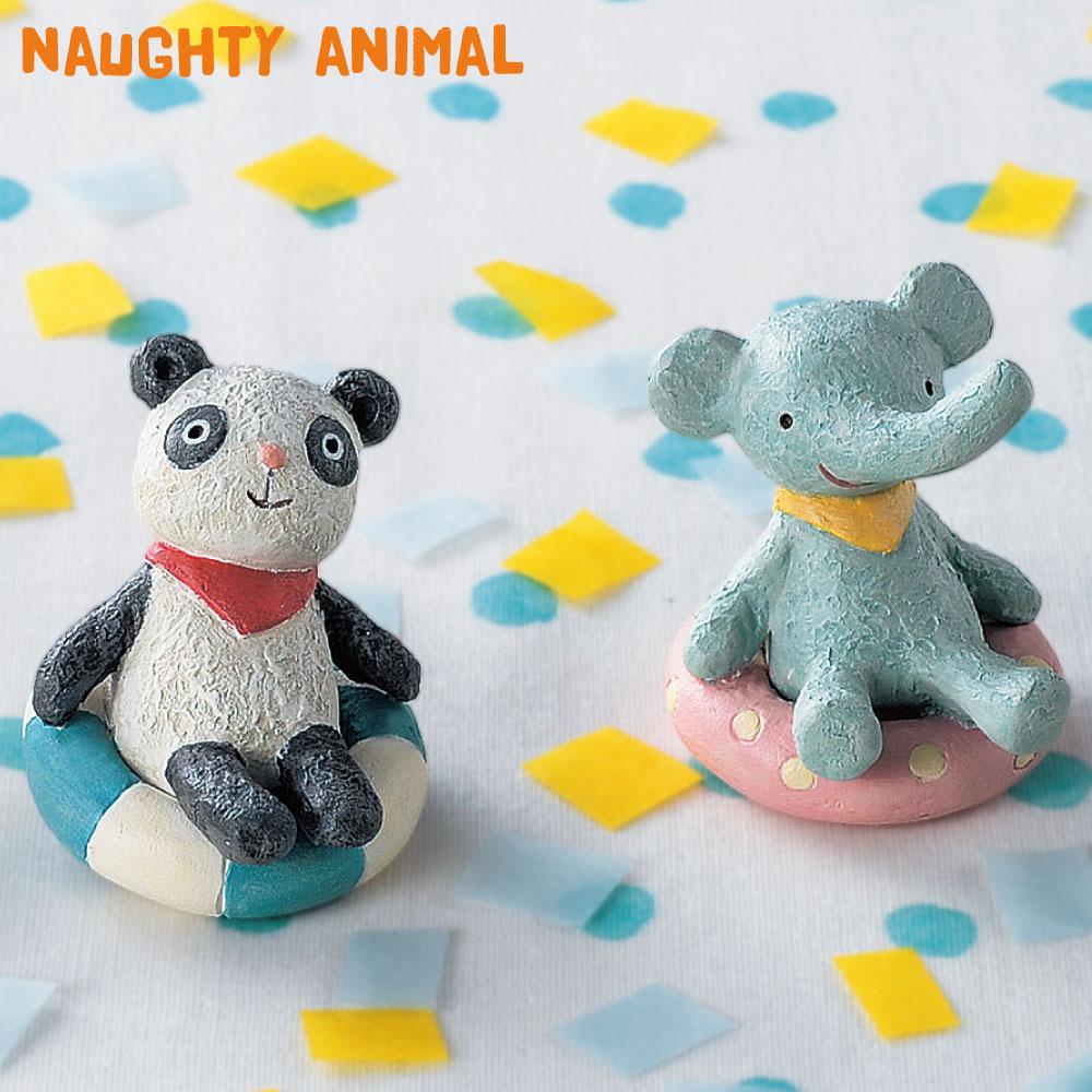 置いておくだけで癒される可愛い動物たちのマスコット インテリア小物 ノーティーアニマル マスコット 浮き輪パンダ 爆売り プレゼント 浮き輪ゾウさん 置物 動物 装飾 あす楽対応 可愛い かわいい 小物