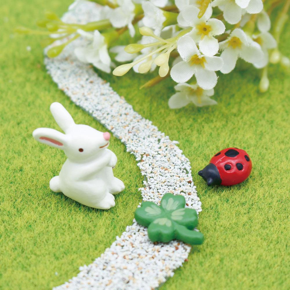 オリジナルのジオラマ作りにオススメの可愛いマスコットセット インテリア小物 ミニミニフレンズセット ウサギ テントウムシ お買得 クローバー ミニチュア フィギュア 小物 かわいい SALE 可愛い あす楽対応 置物 装飾 動物
